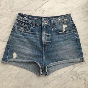 High waist denim cut off shorts 28